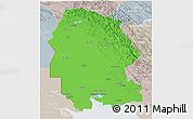 Political 3D Map of Khuzestan, lighten, semi-desaturated
