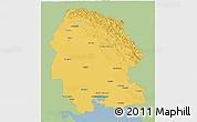 Savanna Style 3D Map of Khuzestan, single color outside