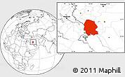 Blank Location Map of Khuzestan