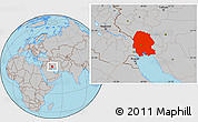 Gray Location Map of Khuzestan