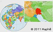 Political Location Map of Khuzestan