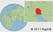 Savanna Style Location Map of Khuzestan