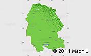 Political Map of Khuzestan, cropped outside