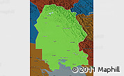 Political Map of Khuzestan, darken