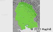Political Map of Khuzestan, desaturated