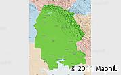 Political Map of Khuzestan, lighten