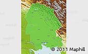 Political Map of Khuzestan, physical outside