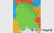 Political Map of Khuzestan