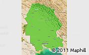 Political Map of Khuzestan, satellite outside