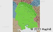 Political Map of Khuzestan, semi-desaturated