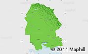 Political Map of Khuzestan, single color outside