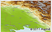 Physical Panoramic Map of Khuzestan