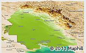 Physical Panoramic Map of Khuzestan, satellite outside