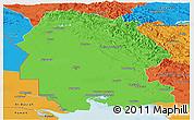 Political Panoramic Map of Khuzestan