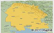 Savanna Style Panoramic Map of Khuzestan