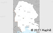 Gray Simple Map of Khuzestan