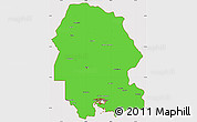 Political Simple Map of Khuzestan, cropped outside