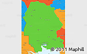 Political Simple Map of Khuzestan