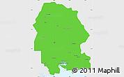 Political Simple Map of Khuzestan, single color outside