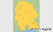 Savanna Style Simple Map of Khuzestan