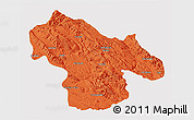 Political 3D Map of Kohgiluyeh & Boyer Ahmad, cropped outside