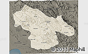 Shaded Relief 3D Map of Kohgiluyeh & Boyer Ahmad, darken
