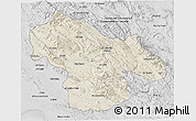 Shaded Relief 3D Map of Kohgiluyeh & Boyer Ahmad, desaturated
