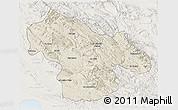 Shaded Relief 3D Map of Kohgiluyeh & Boyer Ahmad, lighten