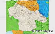 Shaded Relief 3D Map of Kohgiluyeh & Boyer Ahmad, political outside