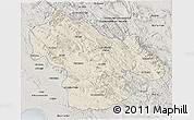 Shaded Relief 3D Map of Kohgiluyeh & Boyer Ahmad, semi-desaturated