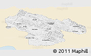 Classic Style Panoramic Map of Kohgiluyeh & Boyer Ahmad, single color outside