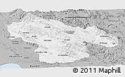 Gray Panoramic Map of Kohgiluyeh & Boyer Ahmad