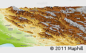 Physical Panoramic Map of Kohgiluyeh & Boyer Ahmad