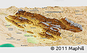 Physical Panoramic Map of Kohgiluyeh & Boyer Ahmad, satellite outside