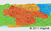 Political Panoramic Map of Kohgiluyeh & Boyer Ahmad