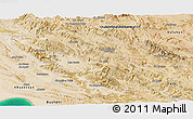 Satellite Panoramic Map of Kohgiluyeh & Boyer Ahmad