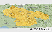 Savanna Style Panoramic Map of Kohgiluyeh & Boyer Ahmad