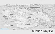 Silver Style Panoramic Map of Kohgiluyeh & Boyer Ahmad