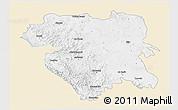 Classic Style 3D Map of Kordestan, single color outside