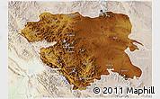 Physical 3D Map of Kordestan, lighten