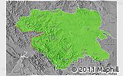 Political 3D Map of Kordestan, desaturated