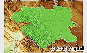 Political 3D Map of Kordestan, physical outside
