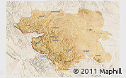 Satellite 3D Map of Kordestan, lighten