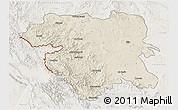Shaded Relief 3D Map of Kordestan, lighten