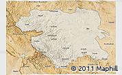 Shaded Relief 3D Map of Kordestan, satellite outside