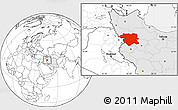 Blank Location Map of Kordestan, highlighted country