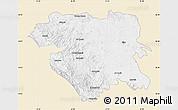 Classic Style Map of Kordestan, single color outside