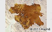 Physical Map of Kordestan, lighten