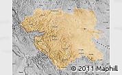 Satellite Map of Kordestan, desaturated