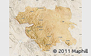Satellite Map of Kordestan, lighten